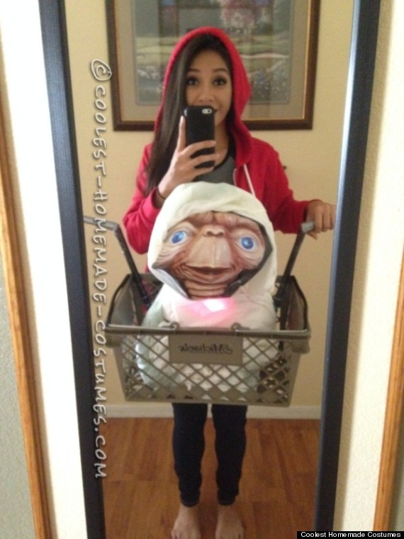 Recreate one of the best moments in movie history as explained by this Coolest Homemade Costumes submission. Just donu0027t forget E.T.u0027s pink glowing heart!  sc 1 st  HuffPost & Halloween Costume Ideas For The Most Indecisive People Ever | HuffPost