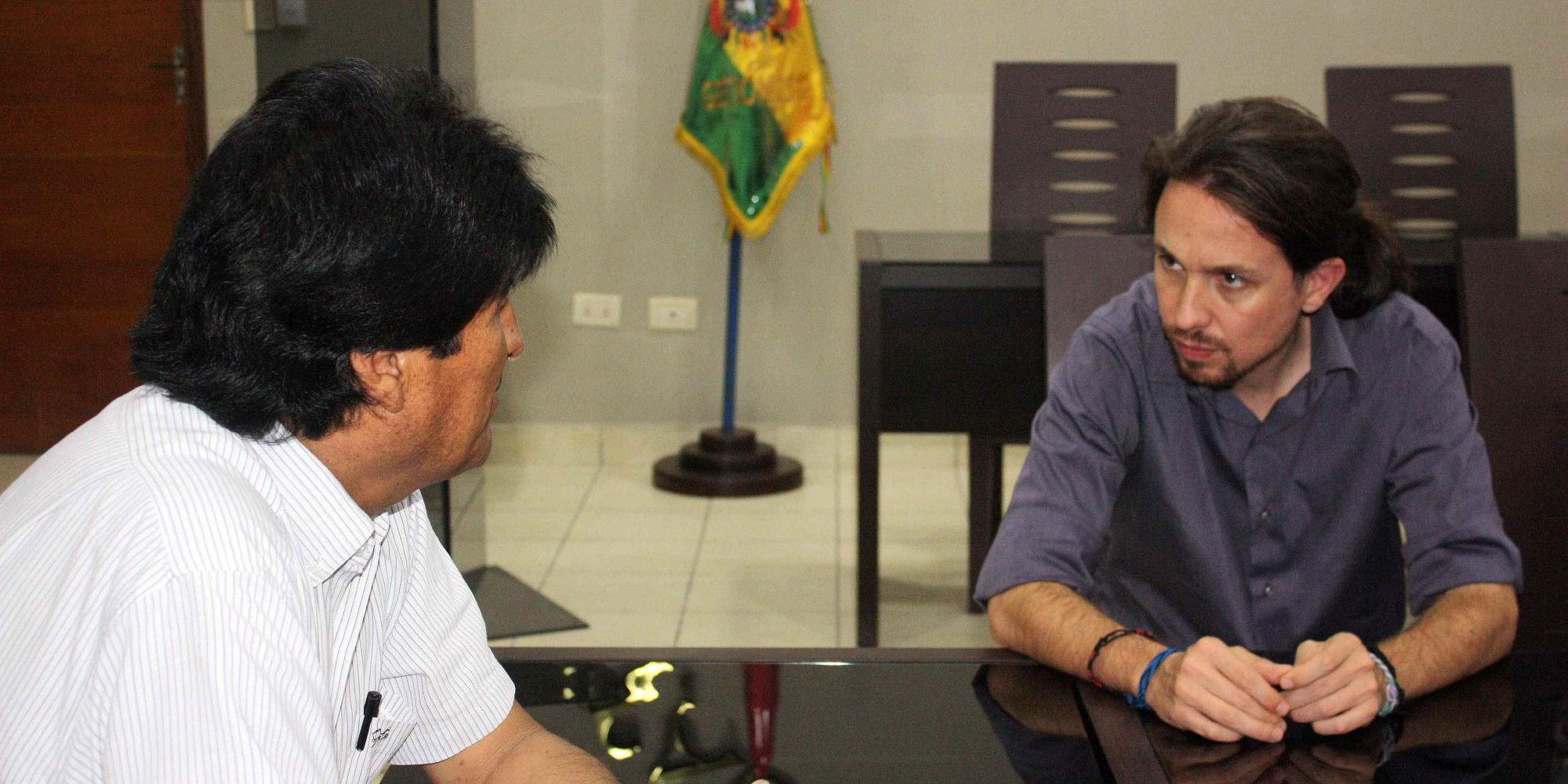 Evo Morales y Pablo Iglesias