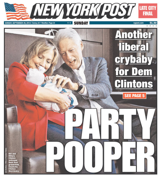 NY Post Mocks Chelsea Clinton's Baby. No, Really. | HuffPost