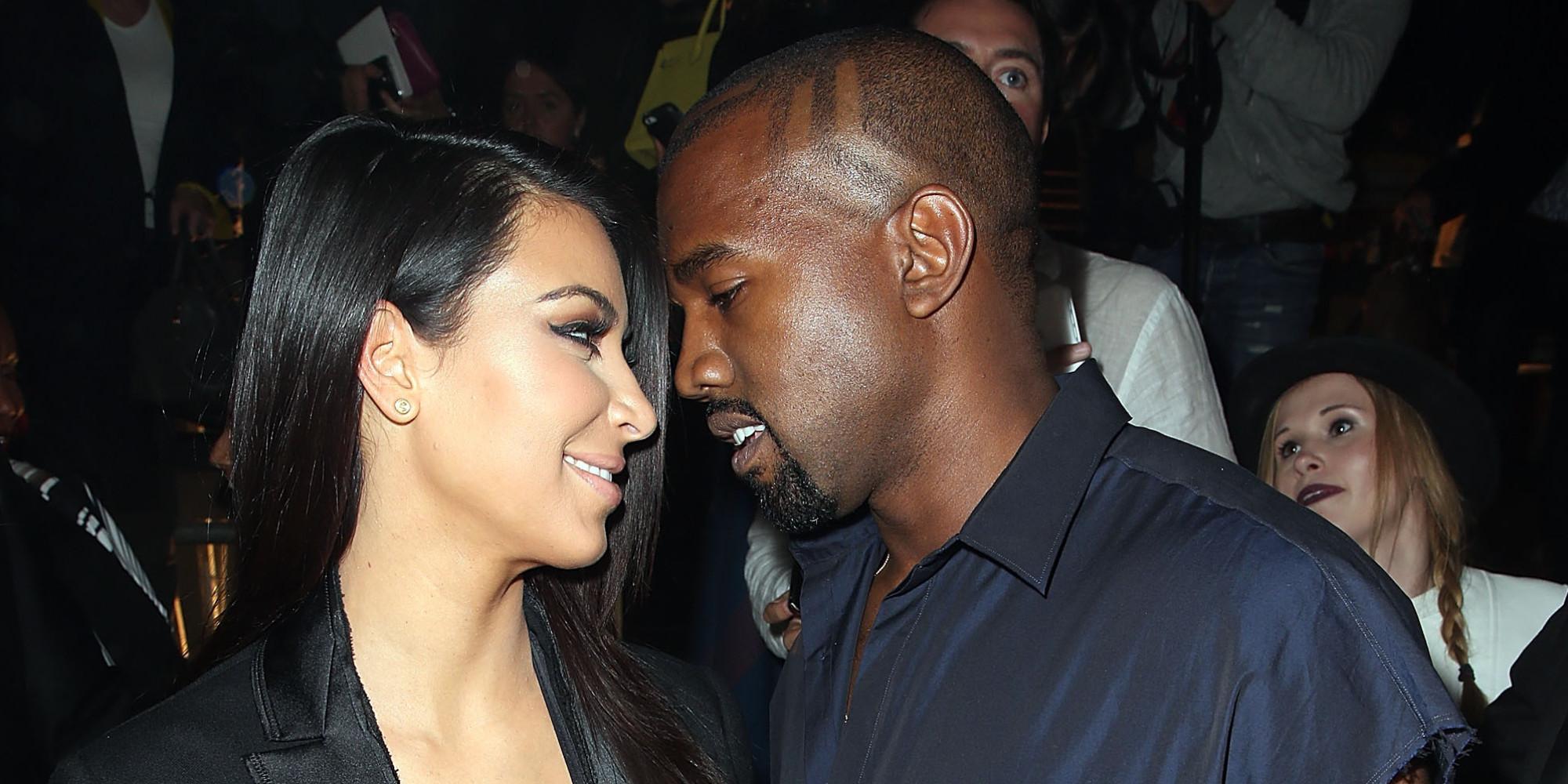Possible kanye west and kim kardashian butt grab