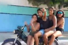 Four kids on a scooter | Pic: YouTube