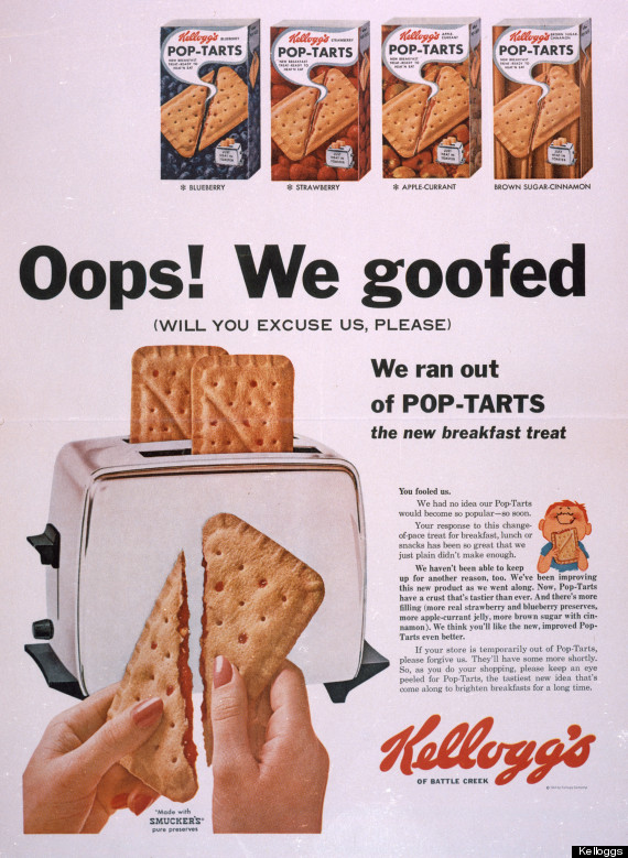 1964 : Kellogg's Pop Tarts Unleashed on Cleveland, Instant Hit