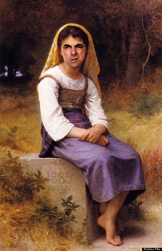 mr bean portrait