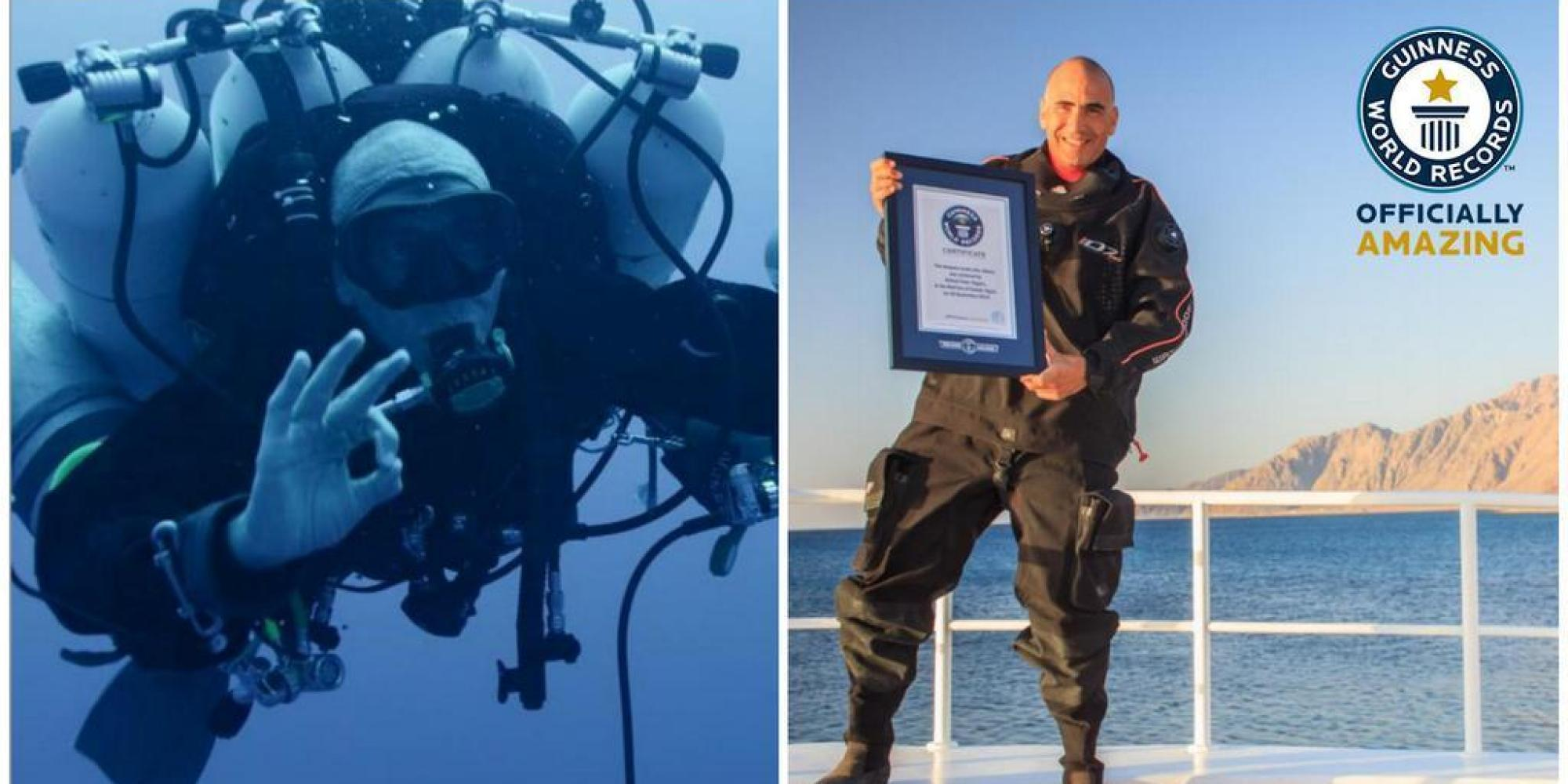 Man Sets New World Record For Deepest Scuba Dive After