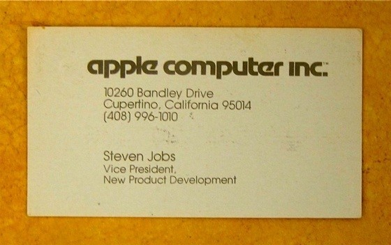 Steve jobs business card circa 1979 photo huffpost download colourmoves