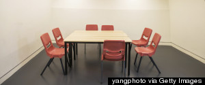 CONFERENCE TABLE EMPTY SCHOOL