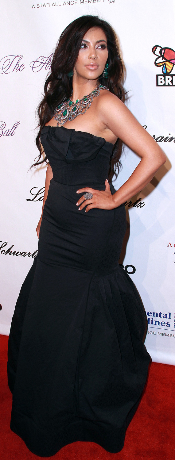 KIM KARDASHIAN BIRTHDAY Angel Ball benefit in NYC.