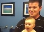 Baby Flexes With Dad, Shows World How Cute 'Tough' Can Be