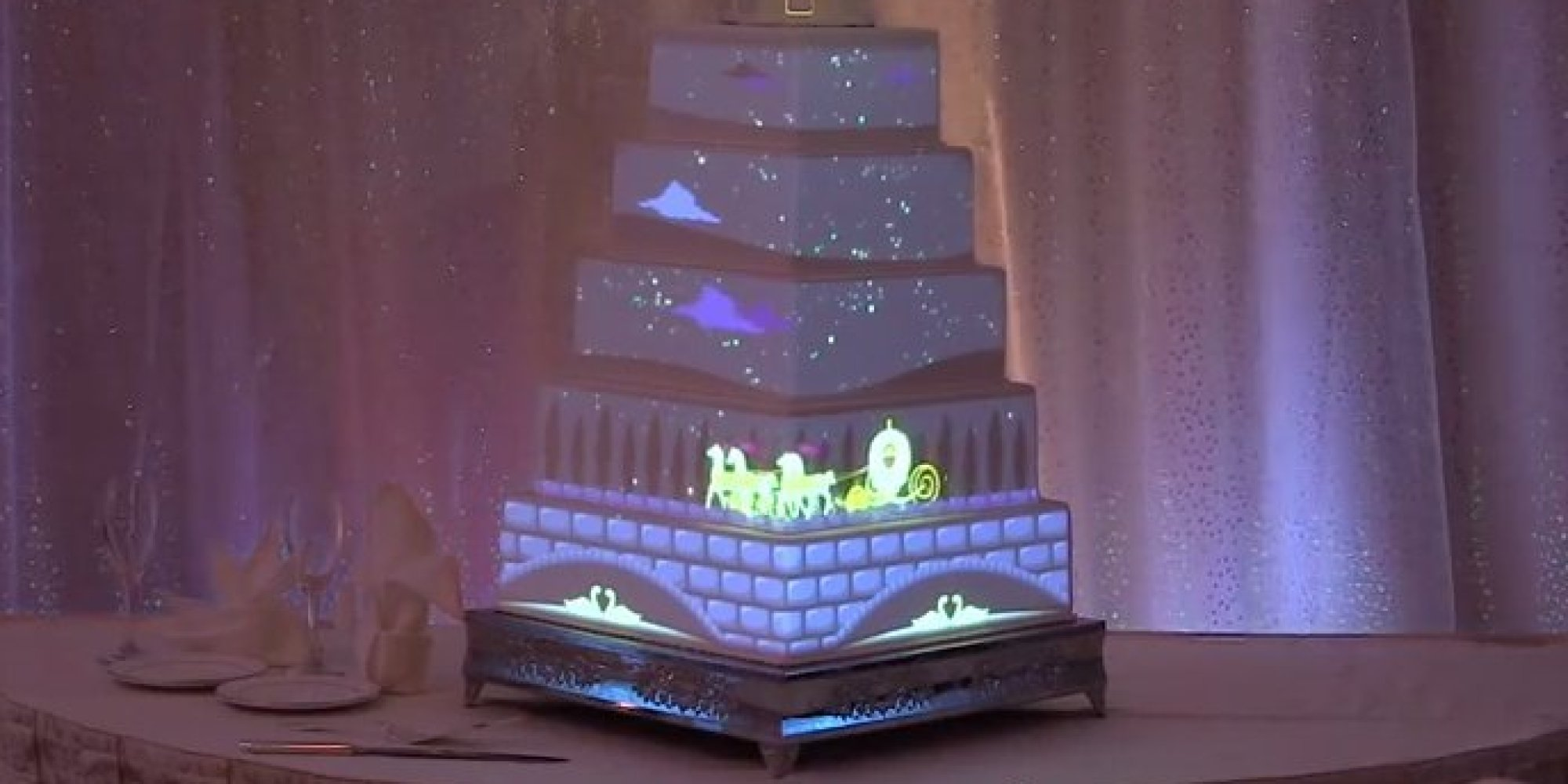 disney is taking wedding cakes to a whole new magical level huffpost. Black Bedroom Furniture Sets. Home Design Ideas