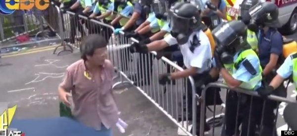 Insane Video Shows Hong Kong Police Spraying Protester Directly In The Face