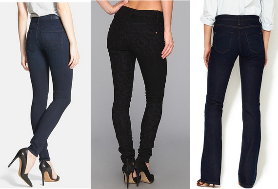 b5259003db0 AG 'The Farrah' High Rise Skinny Jeans, $168; James Jeans James Twiggy  5-Pocket Legging in San Paulo Veil, $40; James Jeans High Class Bootcut Jean,  $69