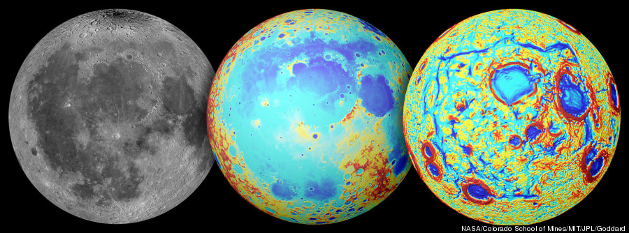nasa moon crater