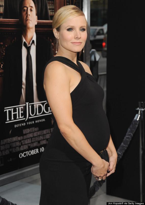 Pregnant Kristen Bell ...