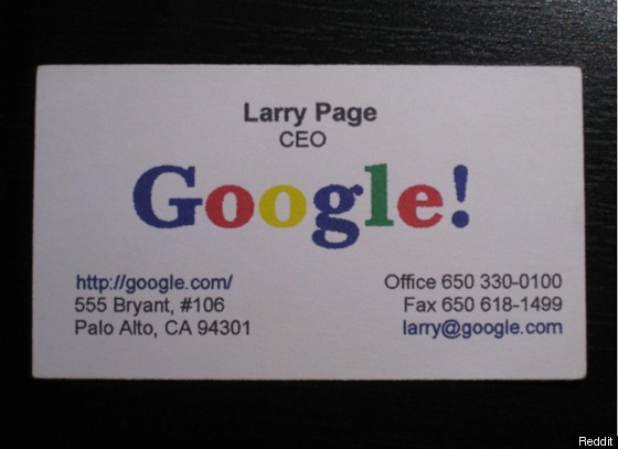 Larry pages business card circa 1998 photo huffpost download colourmoves