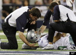 Tony Romo Injured Collarbone
