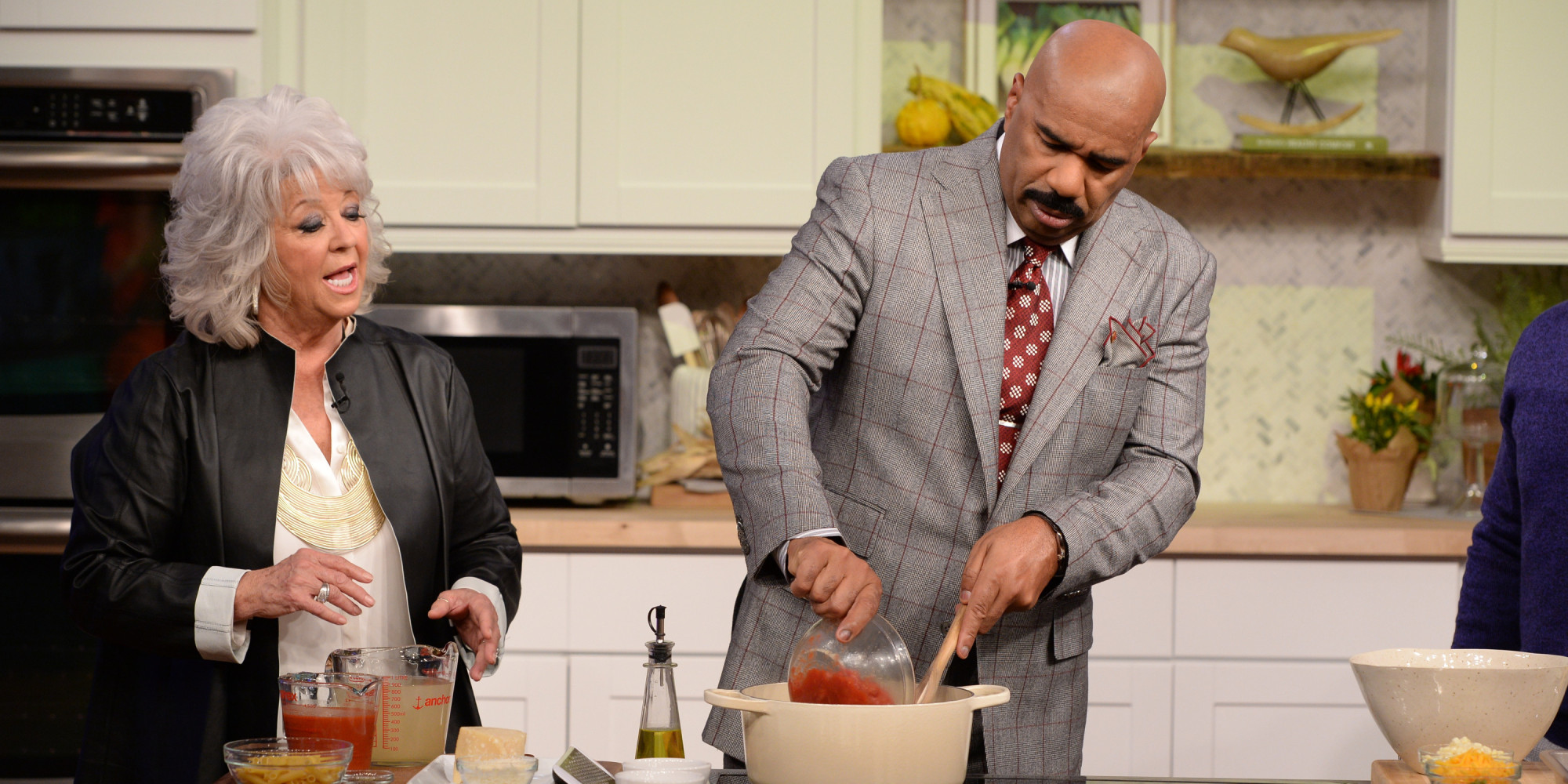steve harvey invites paula deen to mentoring camp  responds to critics