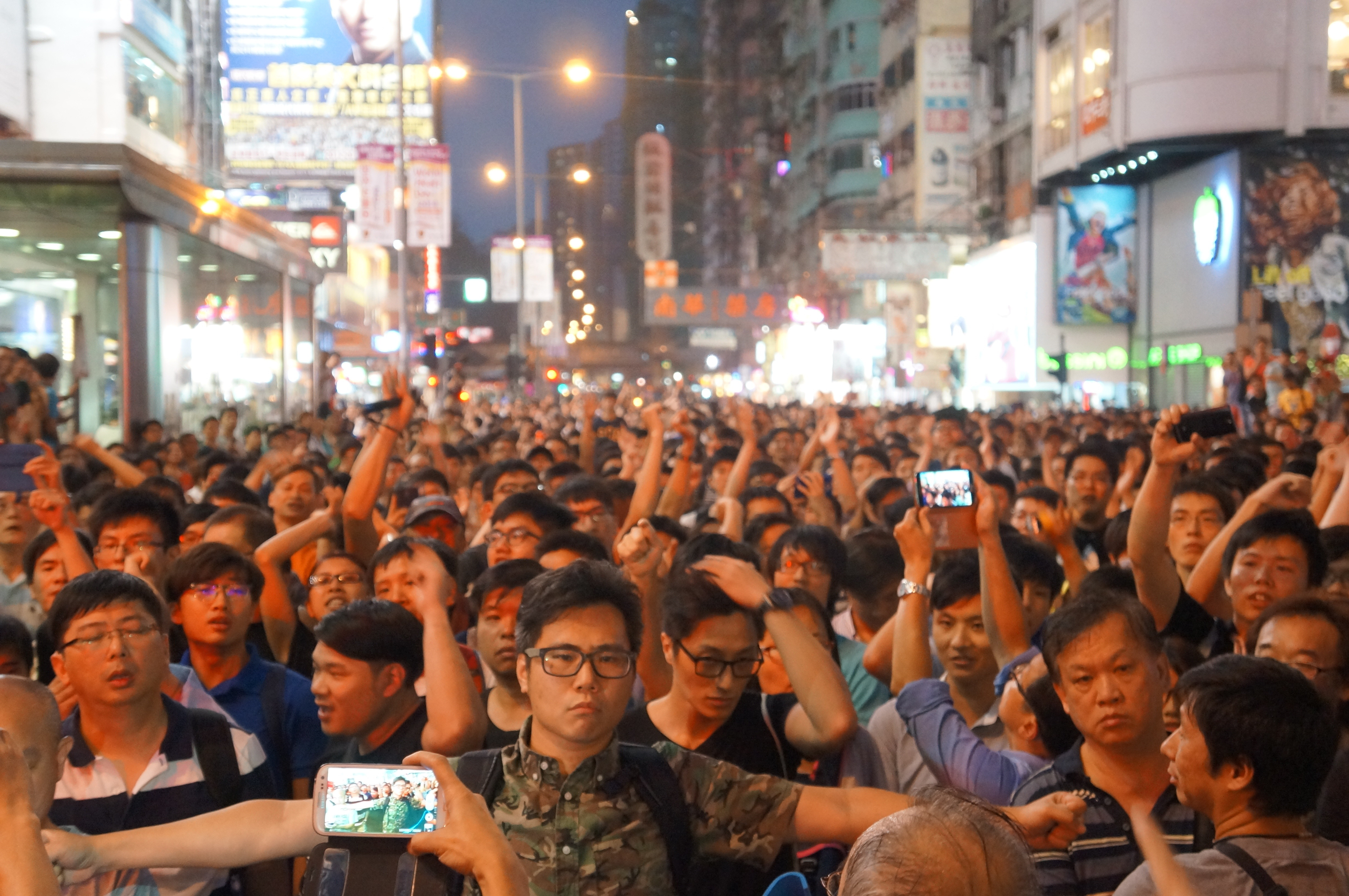 mong kok showdown