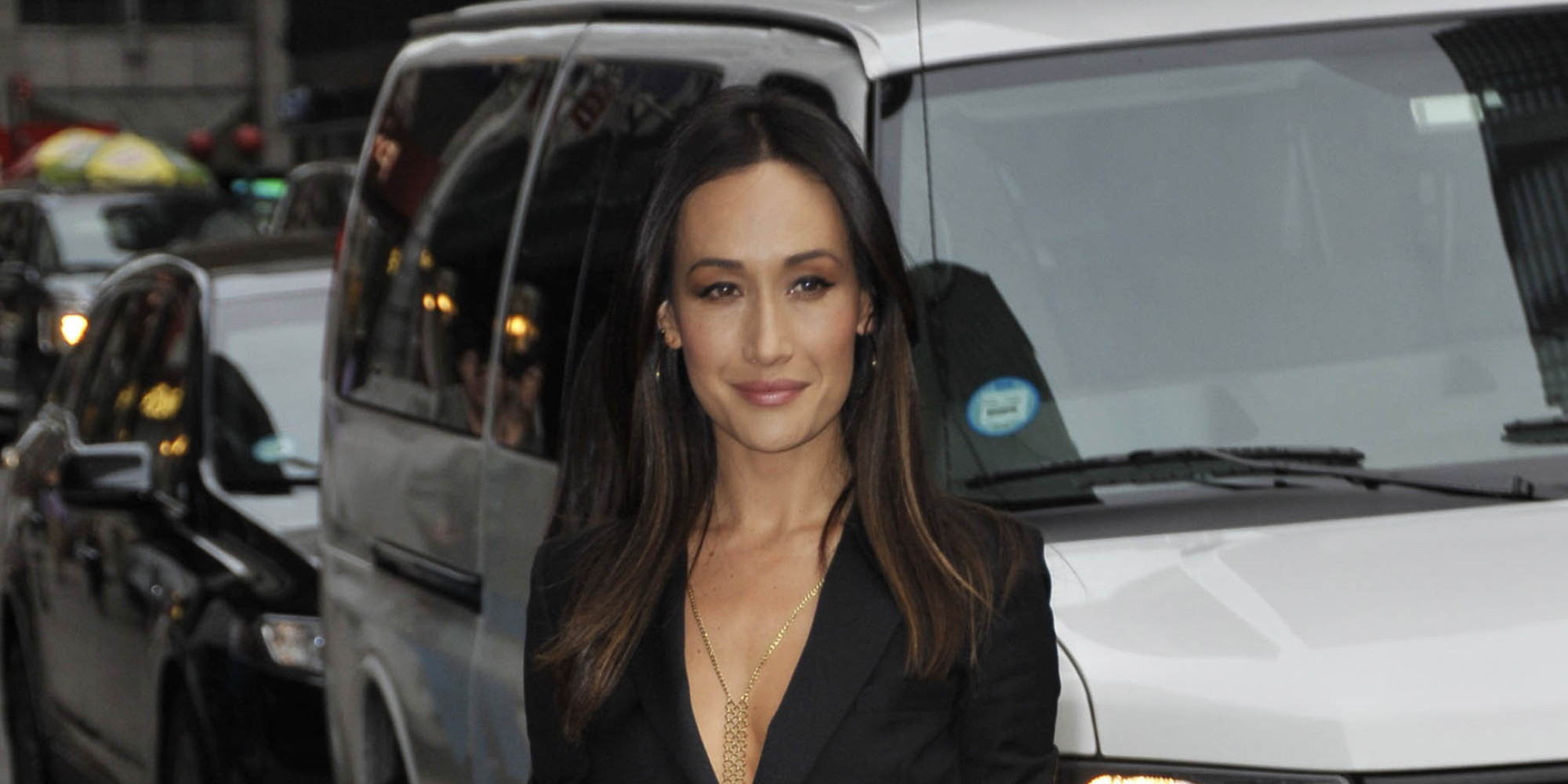 Maggie Q Hairstyle: Maggie Q Is Smoking Hot In A Saint Laurent Jumpsuit