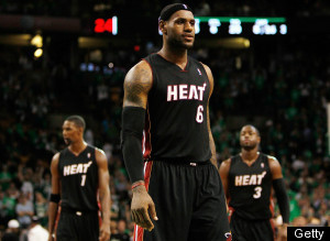 Celtics Heat Lebron James Debut