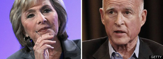 Barbara Boxer Jerry Brown