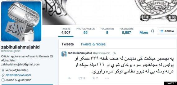 zabihullah mujahid twitter