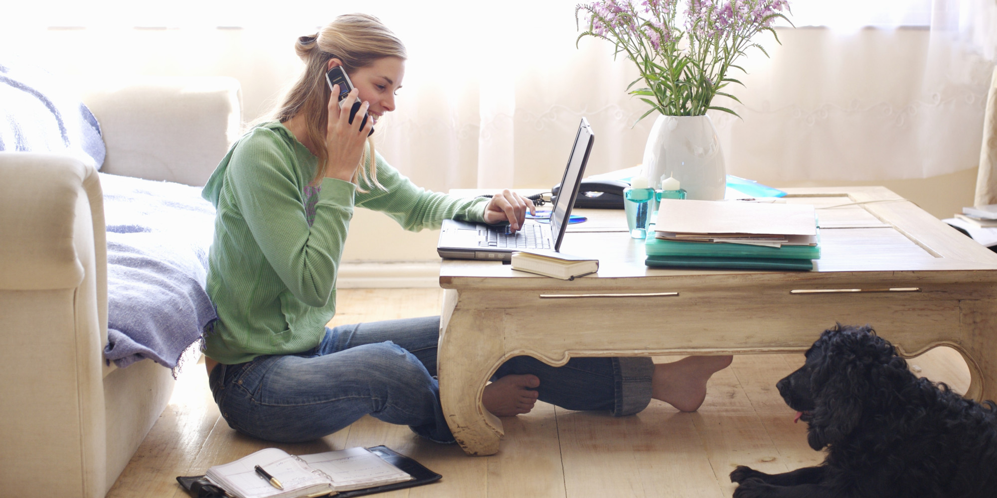 6 habits to work from home successfully huffpost for Work from home pictures