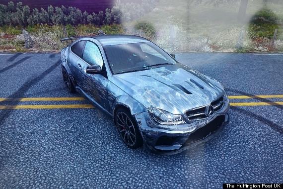 driveclub mercedes c63 amg black