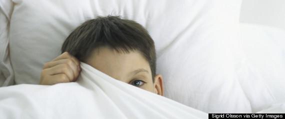 child scared bedroom