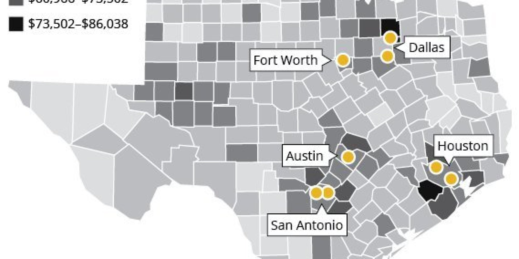Map Shows Abortion Access In Texas Now Only For Wealthy Huffpost