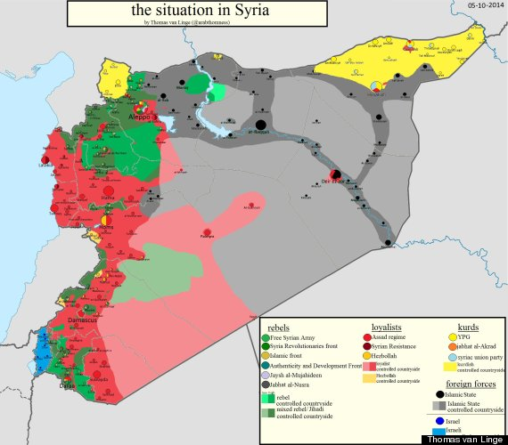 This Is How Close The Fight Against ISIS Is To Turkeys Border - Map of syria and turkey