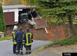 Schmalkalden Sinkhole Swallows Garage In Germany (VIDEO)