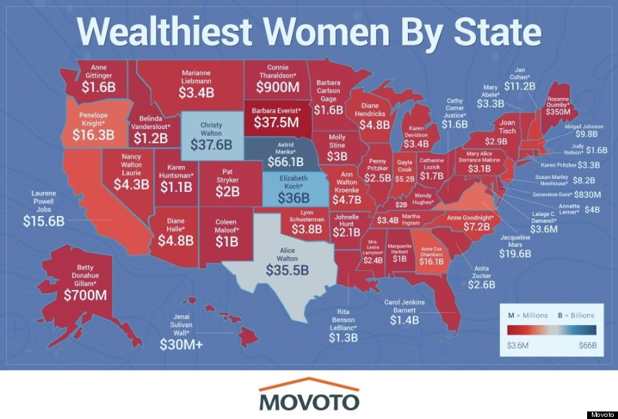Here Is The Richest Woman In Each State HuffPost