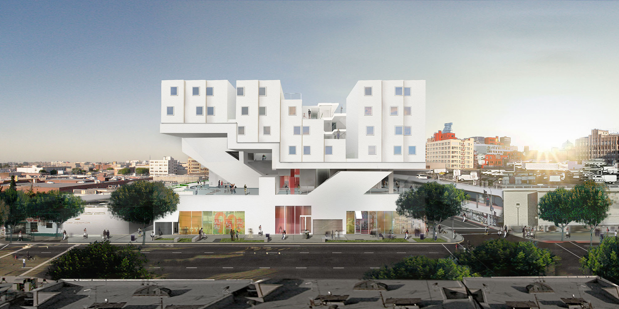 New skid row homeless apartment complex has a running for Homeless shelter in los angeles
