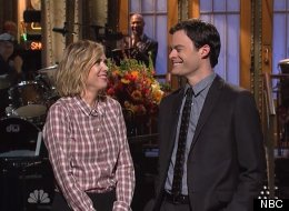 Kristen Wiig Crashes Bill Hader's 'SNL' Monologue