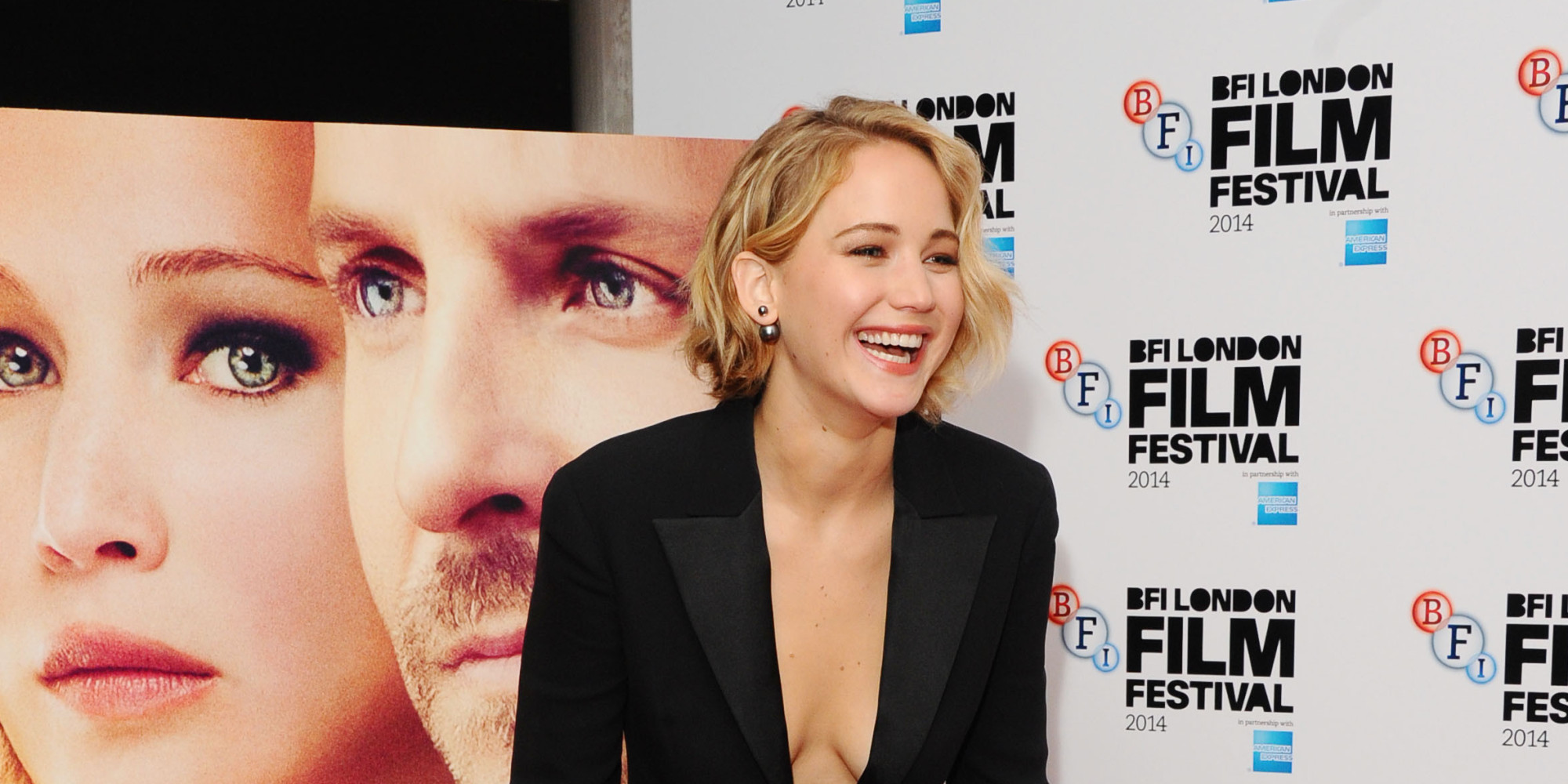 Jennifer Lawrence Takes The Plunge At 'Serena' Premiere
