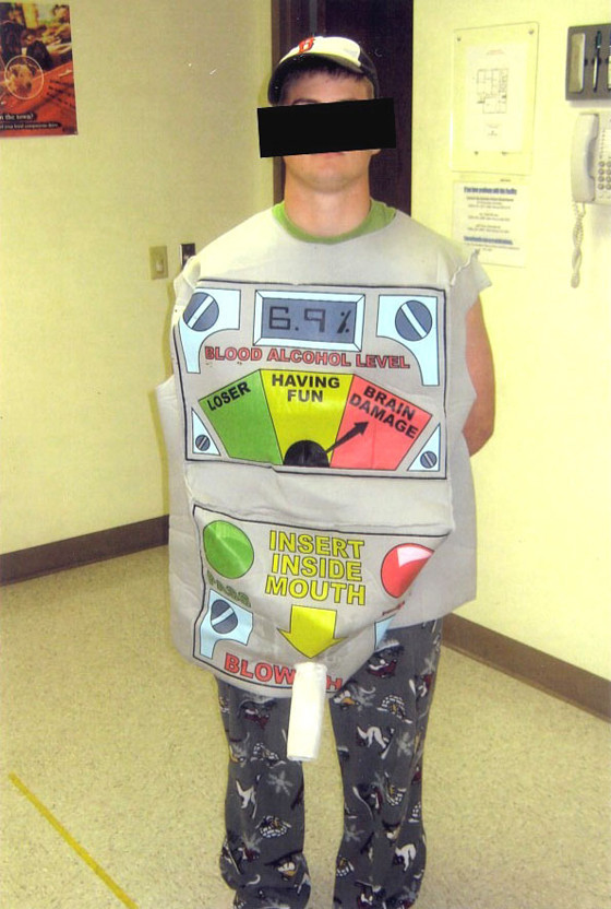 STUPID CRIMINALS: Man Wearing Breathalyzer Costume Arrested For ...