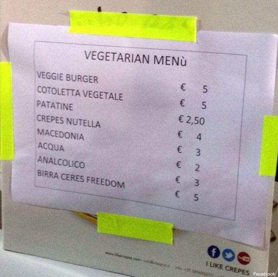 menu vegetariano