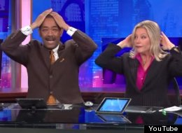 Check Out What These News Anchors Do During Commercial Breaks...