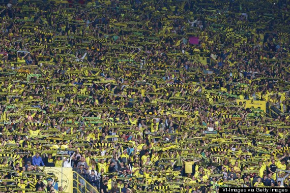 Dortmund Fans Yellow Wall Dortmund's Yellow Wall is