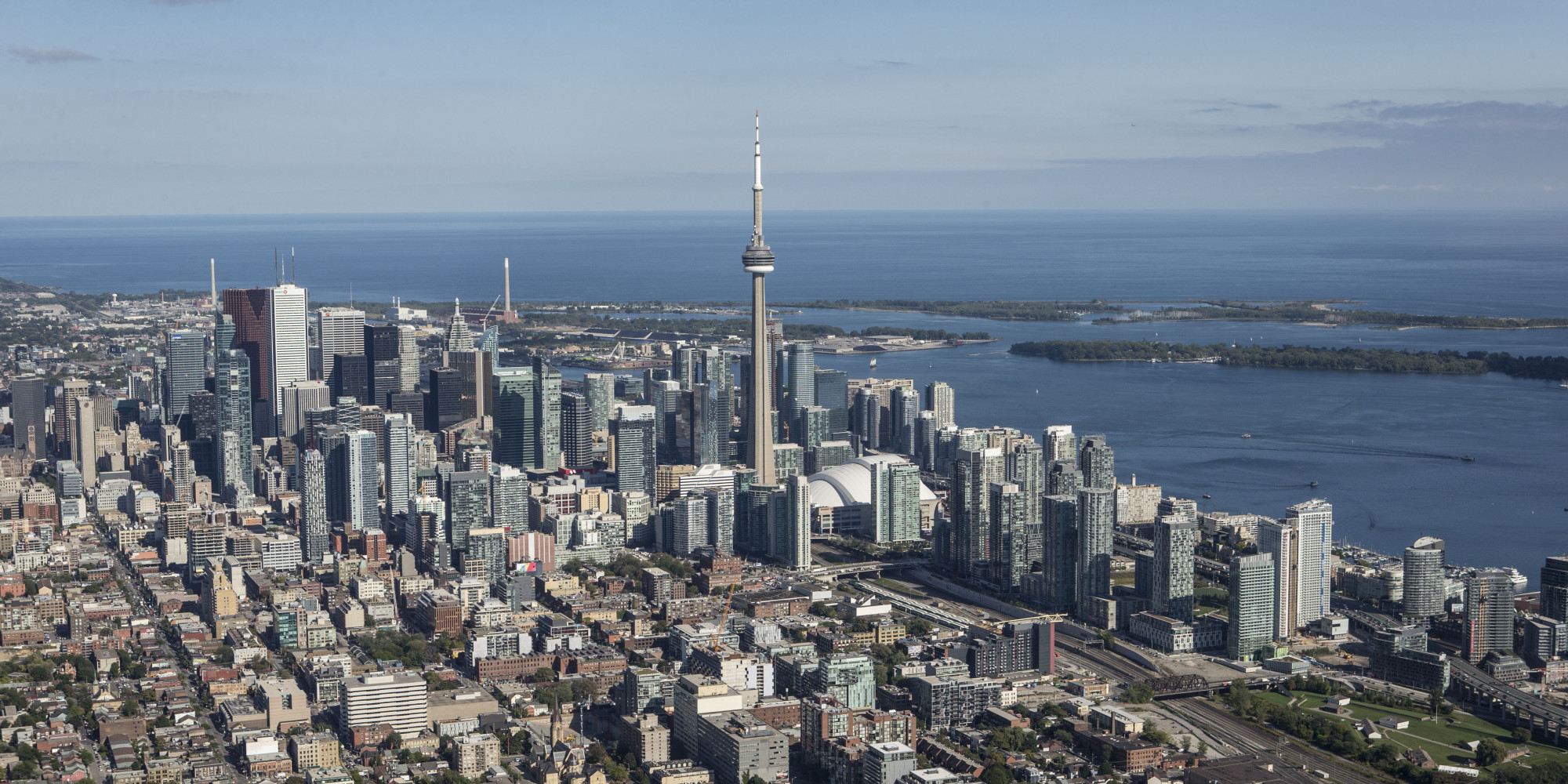 Toronto Plane Flying Low And Trailing Smoke Part Of