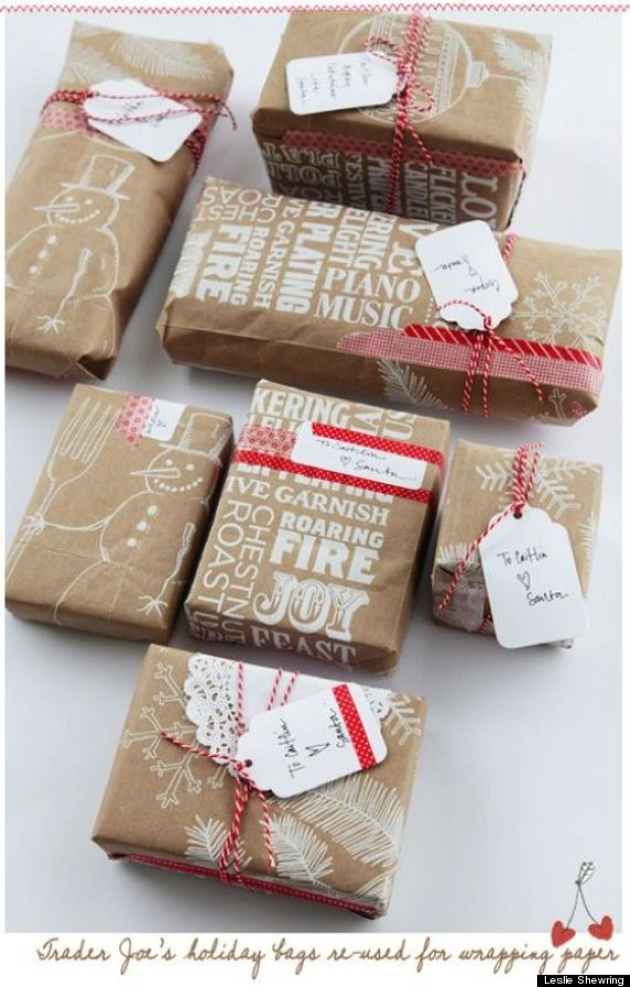15 awesome alternatives to gift wrapping paper that you already grocery gift wrap negle
