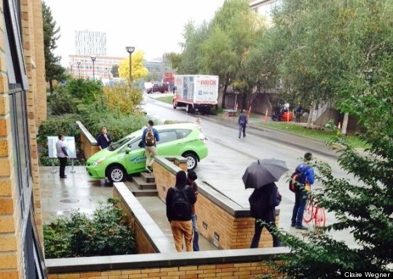 taxi stuck ubc stairs