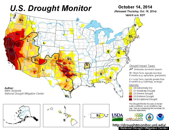 Pumpkin Prices Spike Just Before Halloween Due To California - Drought us map
