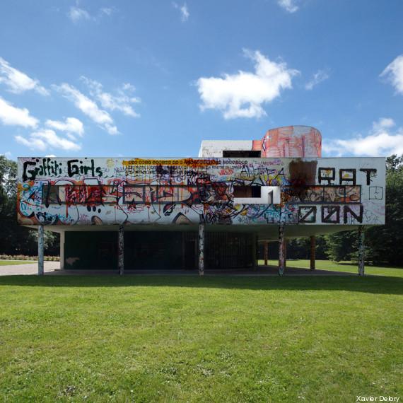 le corbusier vandalise