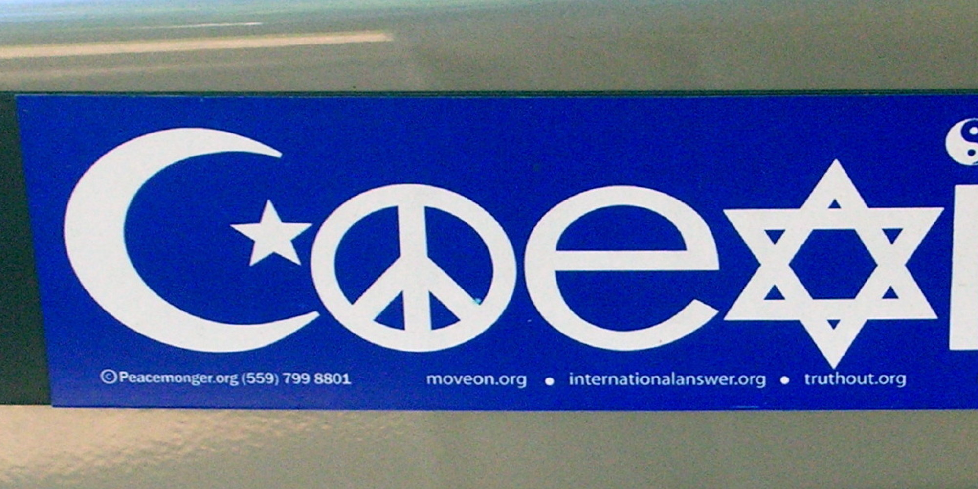 why the coexist bumper stickers bug me huffpost. Black Bedroom Furniture Sets. Home Design Ideas