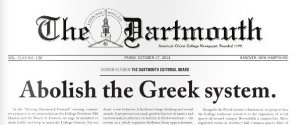 DARTMOUTH FRONT PAGE