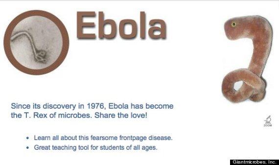 エボラウイルスのぬいぐるみ