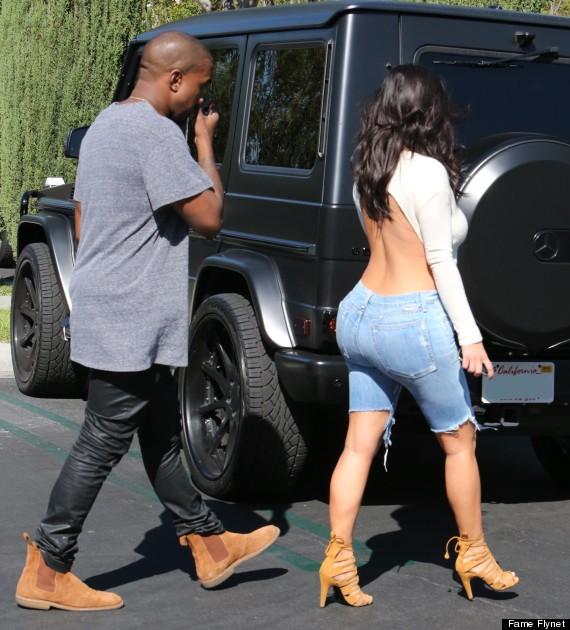 Kim Kardashian Wears Backless Top For Movie Date With