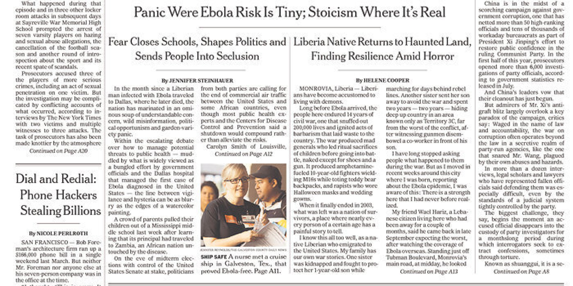 New York Times Makes Yet Another Front Page Blunder