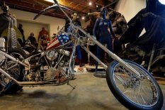 Custom chopper-style motorcycle | Pic: AFP/Getty Images